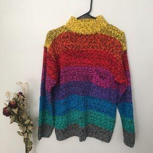 Vintage Gitano Rainbow pride sweater M